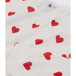 Girls' or Women's Heart Print Ribbed Pyjamas