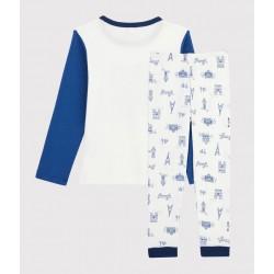 Boys' Paris Motif Ribbed Pyjamas