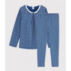 Girls' Hearts Print Tubular Knit Pyjamas