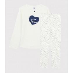 Girls' Mini-Hearts Ribbed Pyjamas