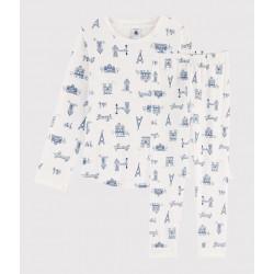 Children's Paris Print Ribbed Pyjamas
