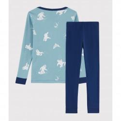 Boys' Pinstriped Ribbed Pyjamas