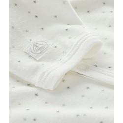White velour star print sleepsuit