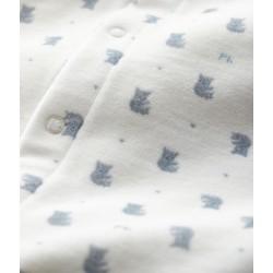 Baby Boys' Koala Print Velour Bodyjama