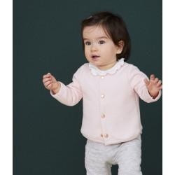 BABY GIRL'S TUBULAR KNIT CARDIGAN
