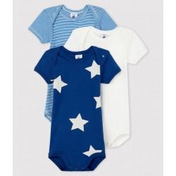 Baby Boys' Short-Sleeved Bodysuit – 3-Piece Set