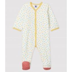 Babies' Confetti Print Velour Sleepsuit