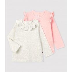 Pack of 2 baby girl's blouses