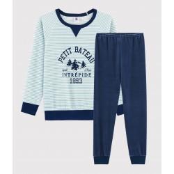 Boys' Yeti Motif Velour Pyjamas