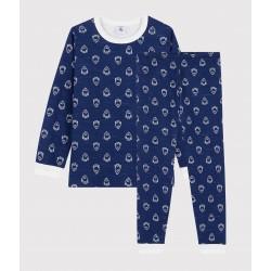 Boys' Yeti Patterned Wool/Cotton Pyjamas