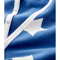 Babies' Blue Starry Fleece Sleepsuit