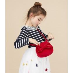 Girls' velvet handbag