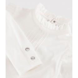Girls' ruff collar T-shirt