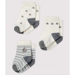 Pack of 3 pairs of baby socks