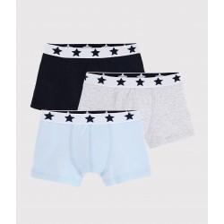 Boys' Plain Organic Cotton Boxer Shorts - 3-Pack