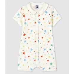 Multicoloured Starry Organic Cotton Playsuit