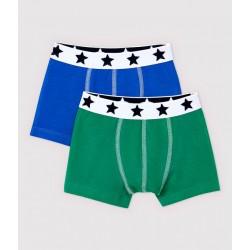 Boys' Organic Cotton and Elastane Boxer Shorts - 3-Pack