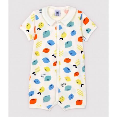 Babies' Organic Cotton Lemon Playsuit