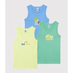Boys' Fruit Pattern Vests - 3-Pack