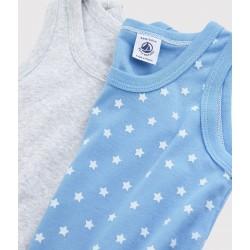 Boys' Marled Grey and Blue Vests - 2-Pack