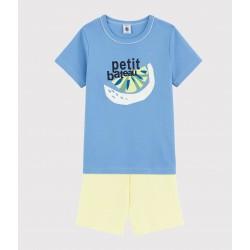 Boys' Lemon Cotton Short Pyjamas