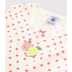 Girls' Pink Spotty Fine Cotton Nightdress