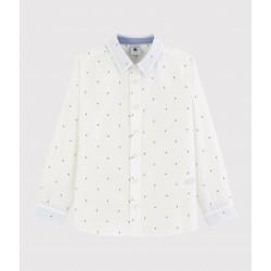 Boys' Long-Sleeved Poplin Shirt