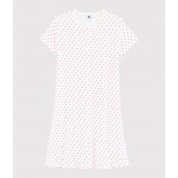 Girls'/Women's Pink Spotty Cotton Nightdress