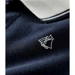 Baby Boys' Short Cotton Polo Shirt Playsuit