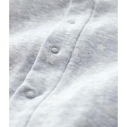Babies' Grey Starry Footless Organic Cotton Bodyjama